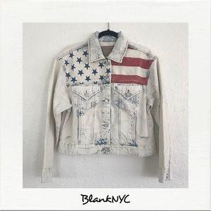 BLANKNYC American Flag Jean Jacket NWT